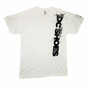 DC Shoes Logo Spellout White/Black Graphic T-Shirt
